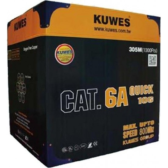 CAT6A  UTP CABLE 305 METER / ROLL KUWES