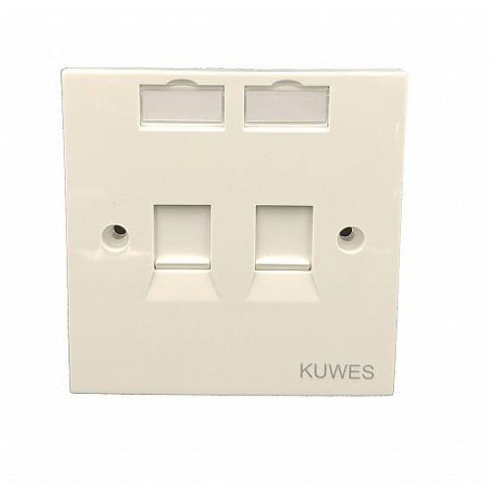 DATA FACE PLATE DOUBLE WITH CAT6 MODULE KUWES