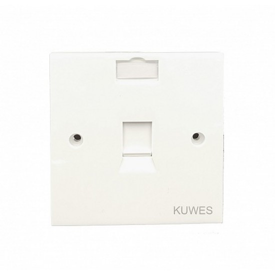 DATA FACE PLATE SINGLE WITH CAT6 MODULE KUWES